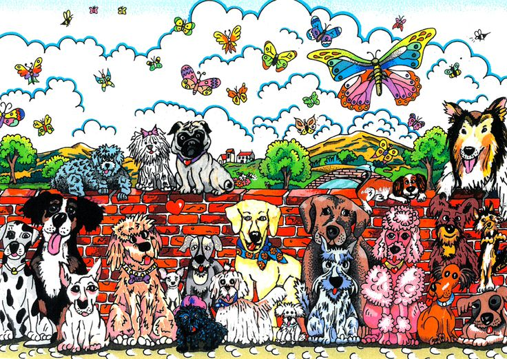 Charles Fazzino 3D Art Charles Fazzino Limited Edition 3-Dimensional Serigraph It's A Dog Day Afternoon