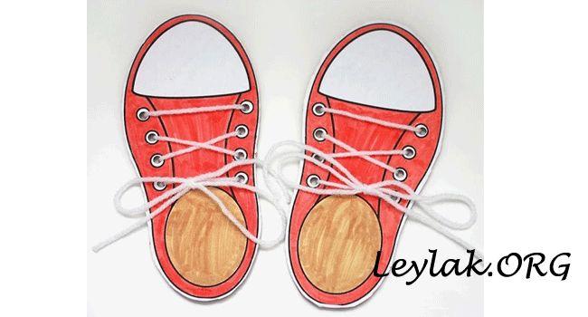 İş eğitimi dersleri için kartondan converse ayakkabı yapımı