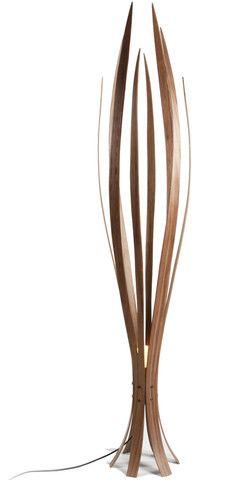 Iris Floor Lamp by Britain's MacMaster | Birch plywood and American black walnut or American white oak veneer | 2Modern