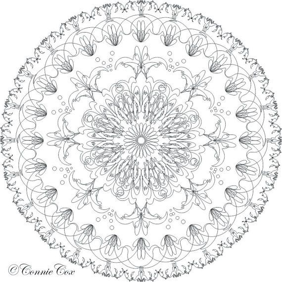 DIY Love Lines Download Kaleidoscope Medallion Coloring