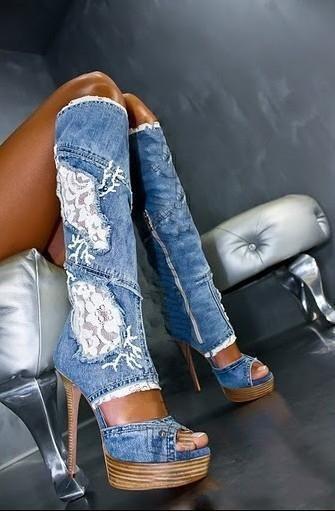 Denim summer boots!