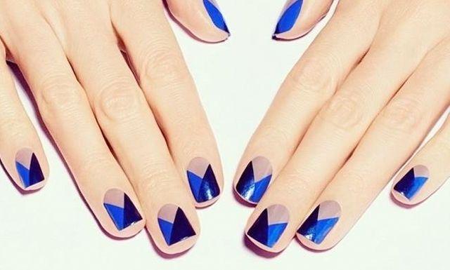 ¡Las uñas geométricas siguen en tendencia!