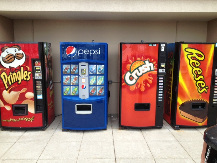 Vending machines, Aurora, Illinois outlet mall, by Phil