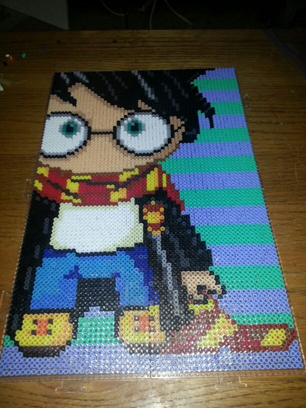 Harry Potter perler beads by Trisha LaLonde                                                                                                                                                                                 More