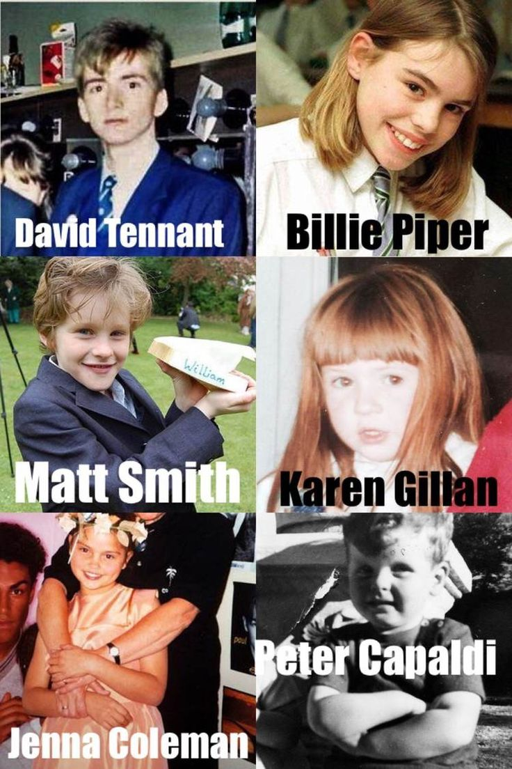 Doctor Who Actors and Actresses in the younger. Years