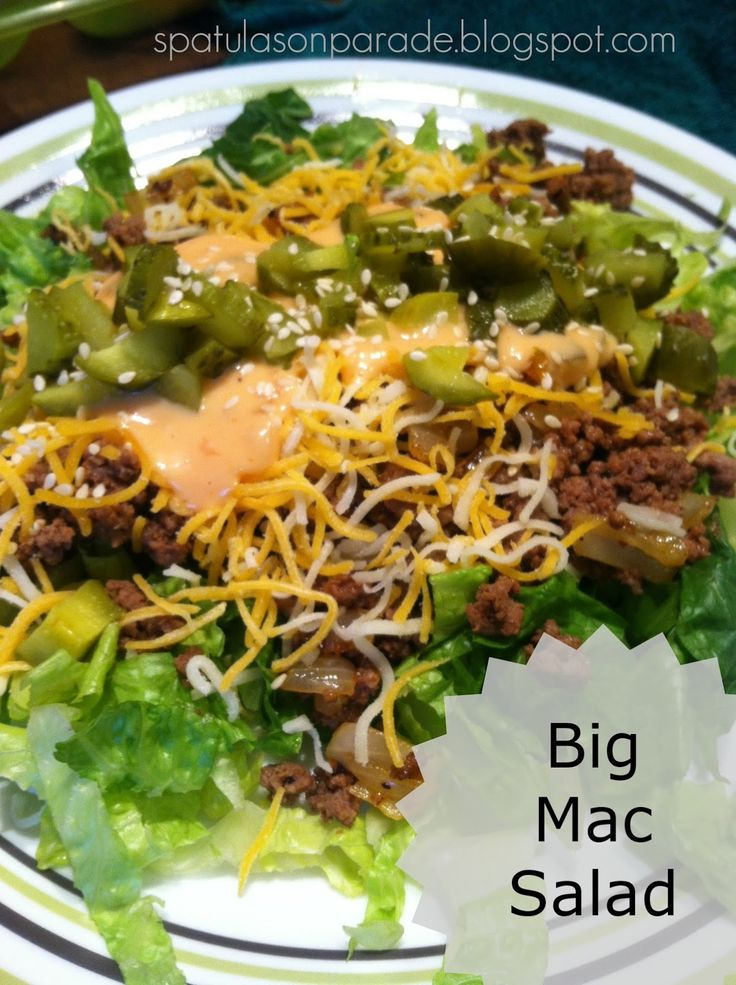 Big Mac Salad - Low Carb! - tastes like the real deal, minus the bun....