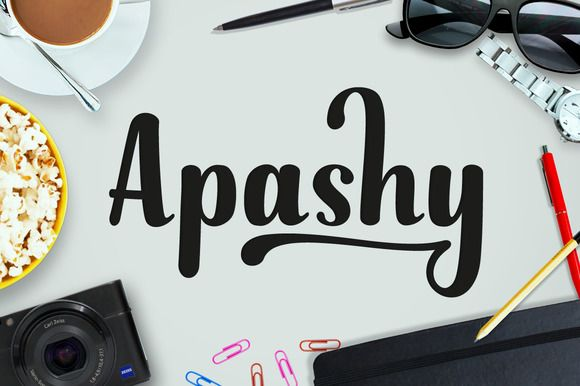 Apashy ~ Display Fonts on Creative Market