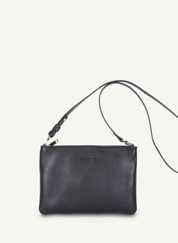 MARIMEKKO VIENO FLAT BAG LEATHER BLACK  #purse #bag #crossbody #wallet #black #classic #leather #leatherbag #leatherpurse #marimekko #pirkkoseattle #pirkkofinland