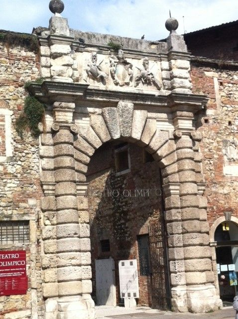 entrance of Olympic theater,Vicenza,Italy
