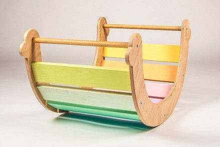 !!! Check availability of products. For non-stock items order for January 2018 !!!  It's not just an ordinary rainbow rocker. A simple reversal becomes the bridge or ladder or tunnel houses, jungle gym, slide, or lectern. Younger children like to use a sense of nests and the possibility of swinging a sitting position. They can creep under, climb, sit on it. It can become a mountain and lake.When Spectraturn sideways arises lectern where children can play on shopping or they...