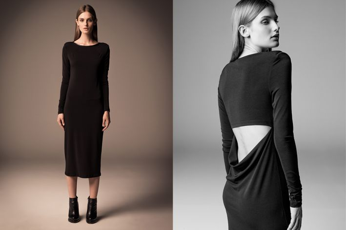 What to wear in the evening > Long Black Dress #fw13