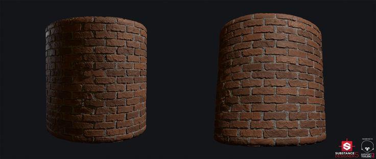 Brick Wall - Substance Designer Practice, Lukas Chrapek on ArtStation at https://www.artstation.com/artwork/R5NWW