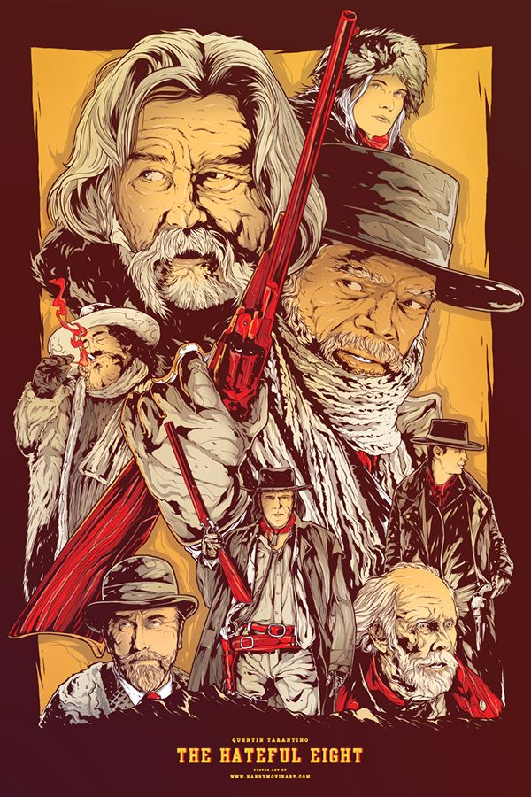 The Hateful Eight - movie poster - Harijs Grundmanis