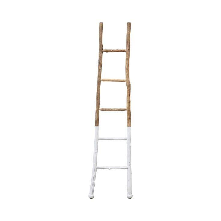 Take your stylish living space to new heights with this charming decorative ladder. Gorgeously crafted from wood, the bottom half of this Klatring Decorative Ladder is beautifully dipped in white for a...  Find the Klatring Decorative Ladder, as seen in the An Artist's Hacienda Collection at http://dotandbo.com/collections/an-artists-hacienda?utm_source=pinterest&utm_medium=organic&db_sku=112493