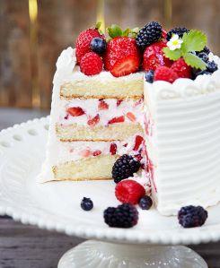 19-Vegan White Chocolate Mixed Berry Cake