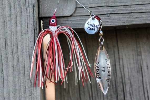Personalized Fishing Hook for Dad or Grandpa - Flash Sale! 15% off everything in the shop until February 1, 2014! Use code: SNOWPOCALYPSE2014