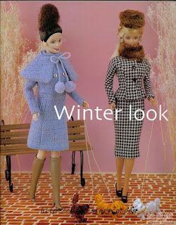 Molde para Barbie - Winter Look 1 - Casaco, Capa e Bota!!!