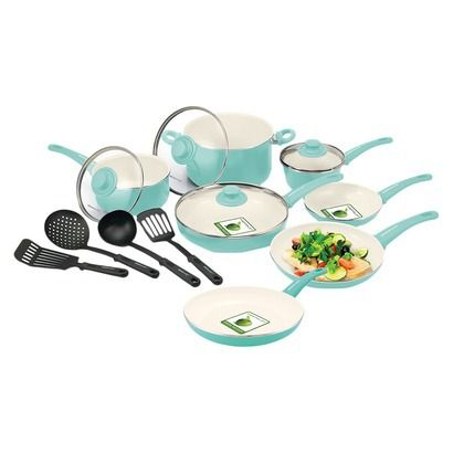 GreenLife 15 Piece Ceramic Cookware Set: Fiesta or GreenLife? Not sure of the difference.