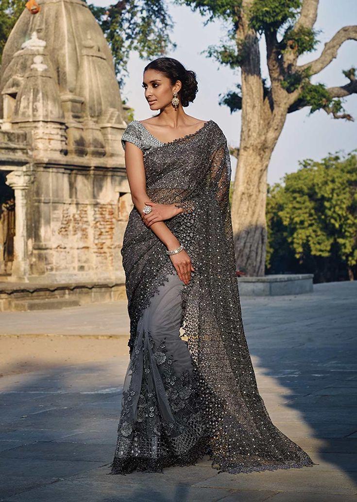 floral saree designs