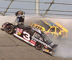 Feb 18 - 2001 – Seven-time NASCAR Sprint Cup Series champion Dale Earnhardt dies in an accident during the Daytona 500.