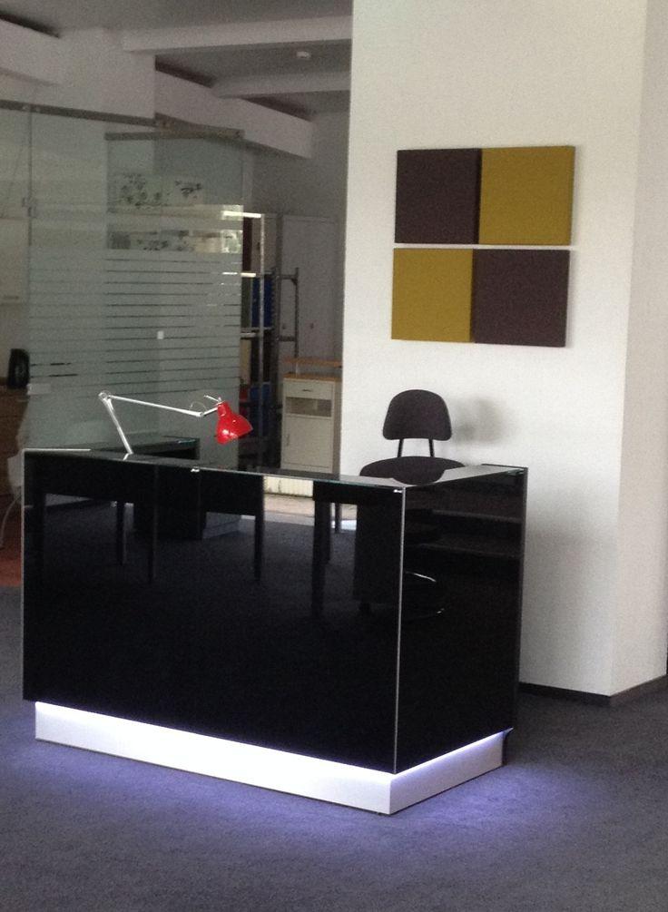 Linea reception desk in Lithuania.