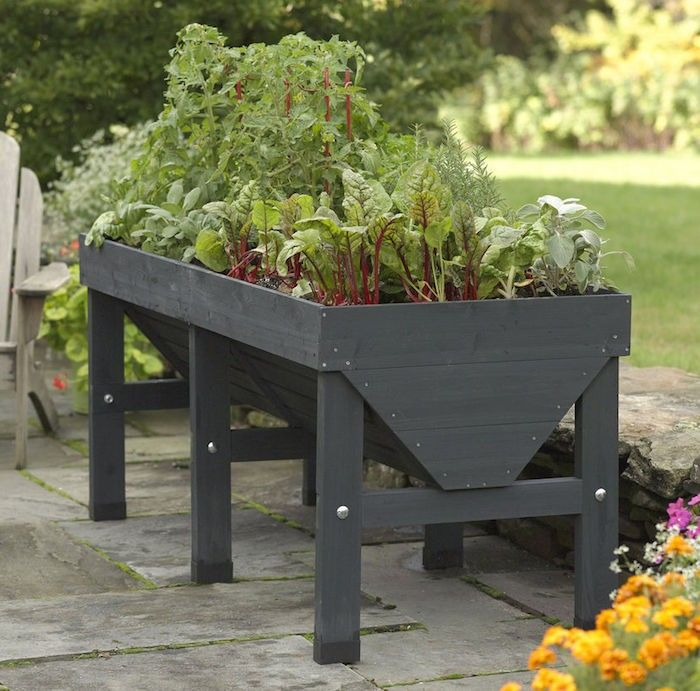 Patio Vegetable Garden Ideas patio vegetable garden small vegetable garden plans and ideas Vegtrug Elevated Planter In Charcoal Gardenista Patio Gardensraised