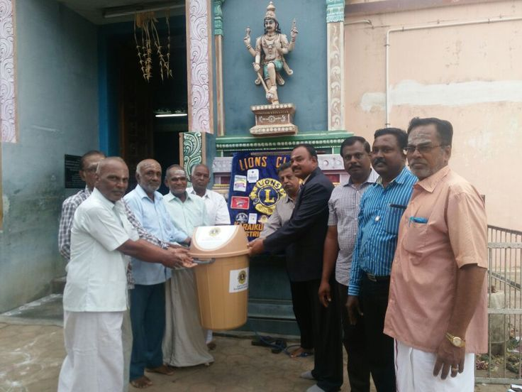 As a part of Clean India Project, WBC Software Lab joining with Lions club of karaikudi cosmos, donated dustbin to Lord Shiva Temple Sekkalai, Karaikudi.