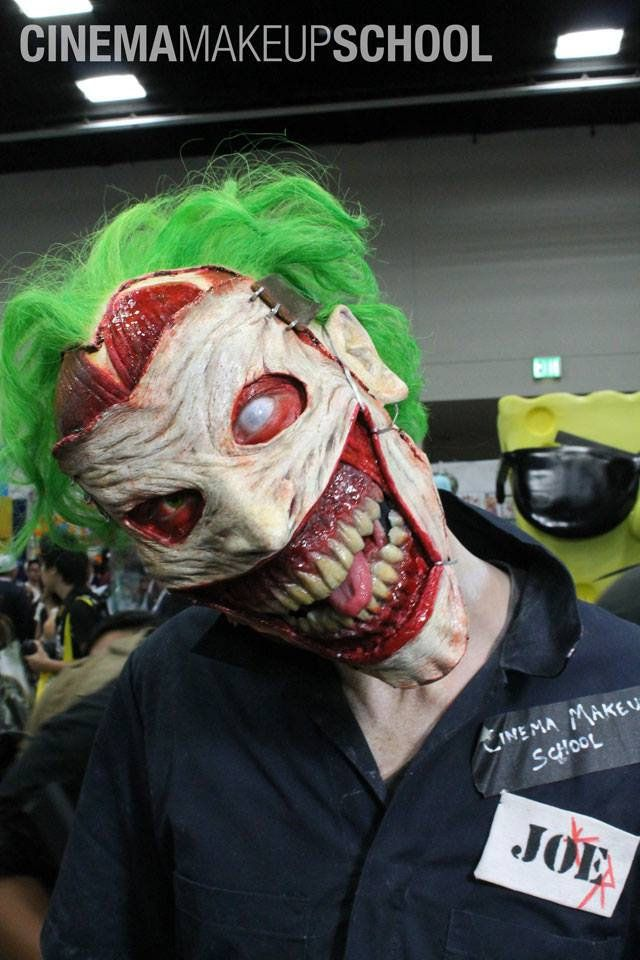 Prosthetics/make for the New 52 Joker.  Click through for more super-creepy photos and a making-of video.