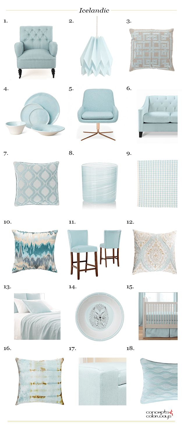 sherwin williams icelandic, interior design product roundup, interior styling ideas, interior design ideas, sky blue, mint blue, seafoam green, pale blue, baby blue, light blue, blue-green, green-blue, aqua blue