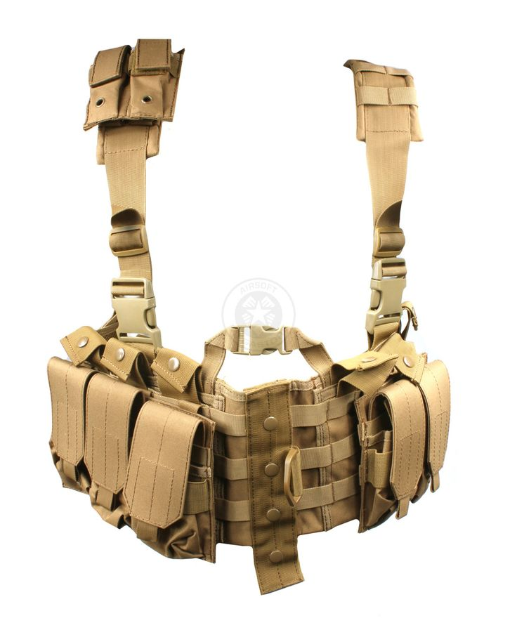 AMA MOLLE Airsoft Chest Rig w/ Magazine Pouches | Airsoft Megastore