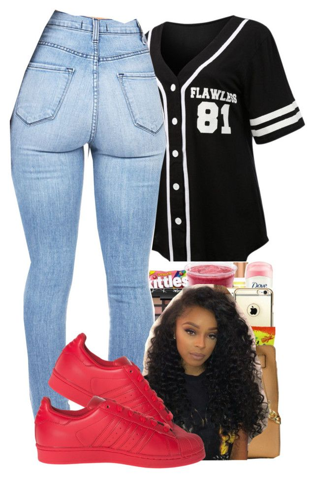 """."" by peaches1121 ❤ liked on Polyvore featuring LE3NO and adidas"