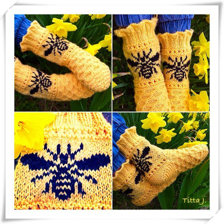 Honeybee -socks/ kevätpörriäiset