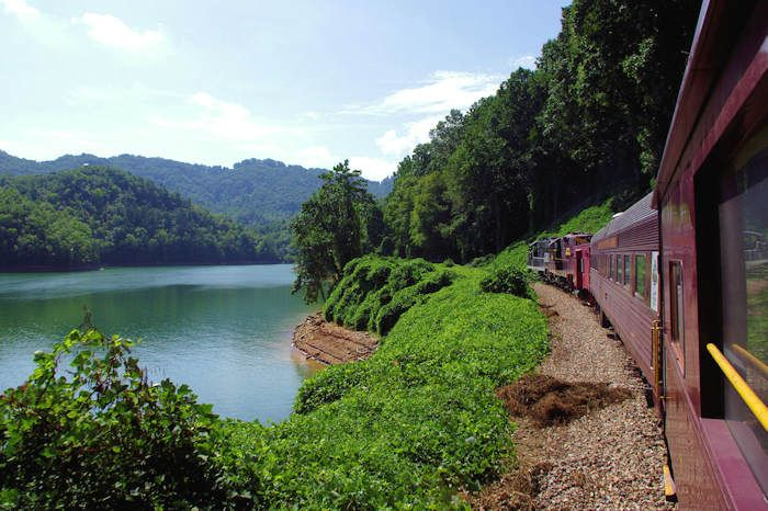 Nantahala Gorge Excursion on the Great Smoky Mountain Railroad, Departs from Bryson City, NC. $51.00