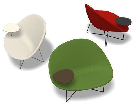Isola_chair_ClaessonKoivistoRune_Tacchini_OrangeSkin Modern Chair Called  Isola Chair By Claesson Koivisto Rune For Tacchini