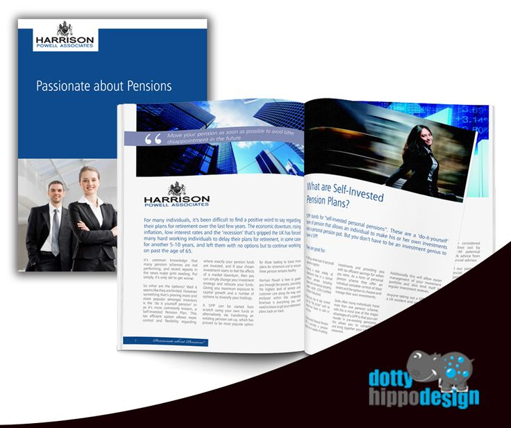Pension brochure design