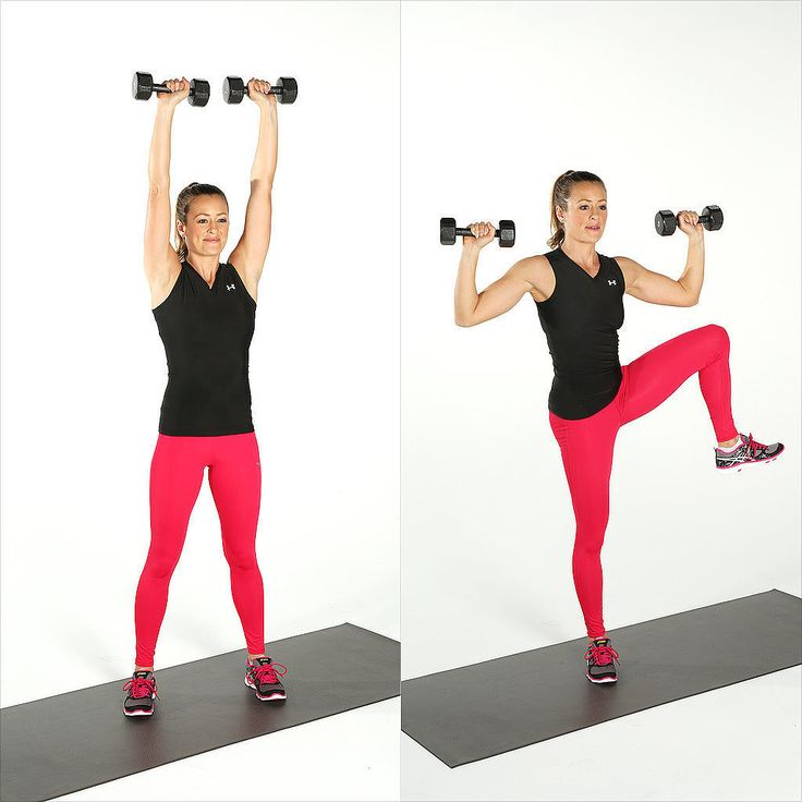 Shoulder Press and Side Crunch