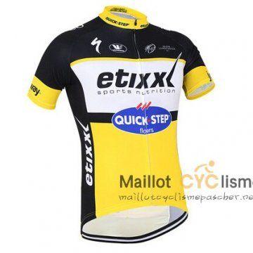 maillot Cyclisme pas cher Cyclisme QUICK STEP 2016 Manche Courte jaune