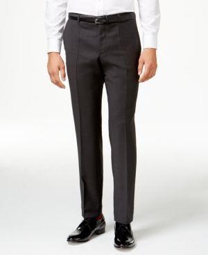Hugo by Hugo Boss Men's Charcoal Slim-Fit Pants - Gray 32R