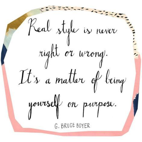 Be yourself on purpose. That's why you should shop consignment and resale, says AiuntieKate.wordpress.com