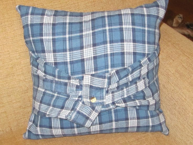 Back Of Flannel Shirt Pillow My Completed Projects