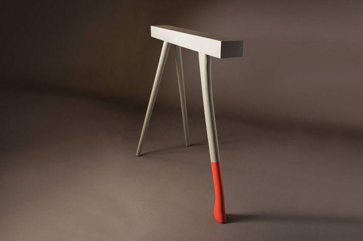 Tréteau H - Design Christian Ghion  pour la Collection 730 par Robba Edition…