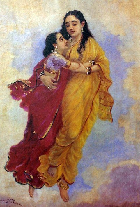 Image result for dreams ravi varma painting