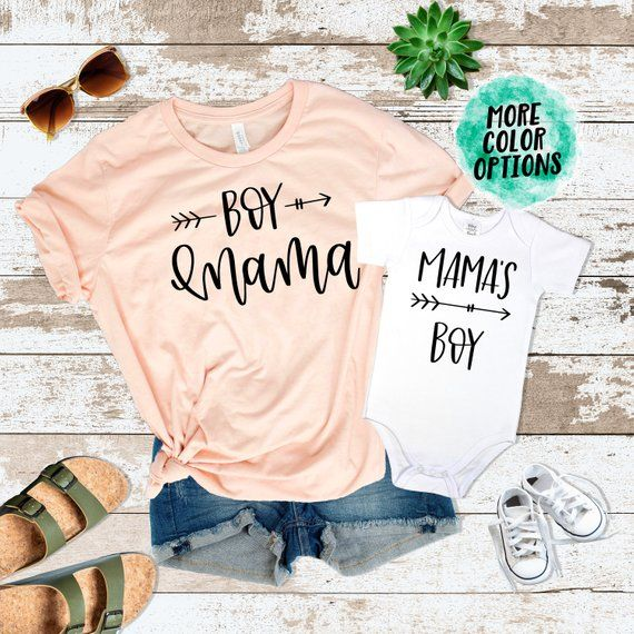 34431bbe62f1 Mommy and me Shirts Boy Momma Mama's Boy Outfit | Mommy & Me Outfits | Momma's  Boy Baby Shower Gift