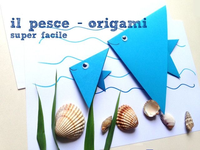 Come fare un facilissimo pesce origami con un quadrato di carta in poche semplici mosse. Con tutorial fotografico dettagliato.