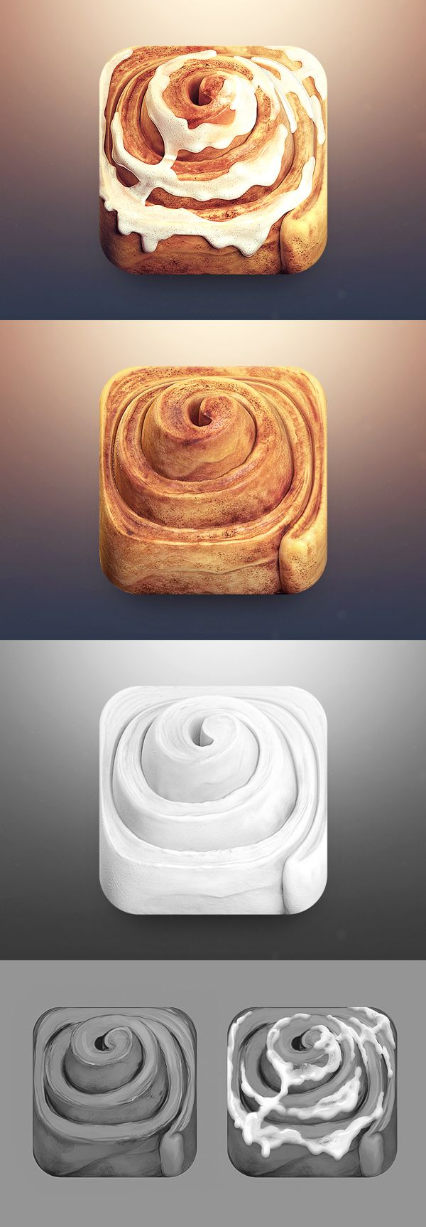 Cinnamon Roll App Icon by CreativeDash , via Behance