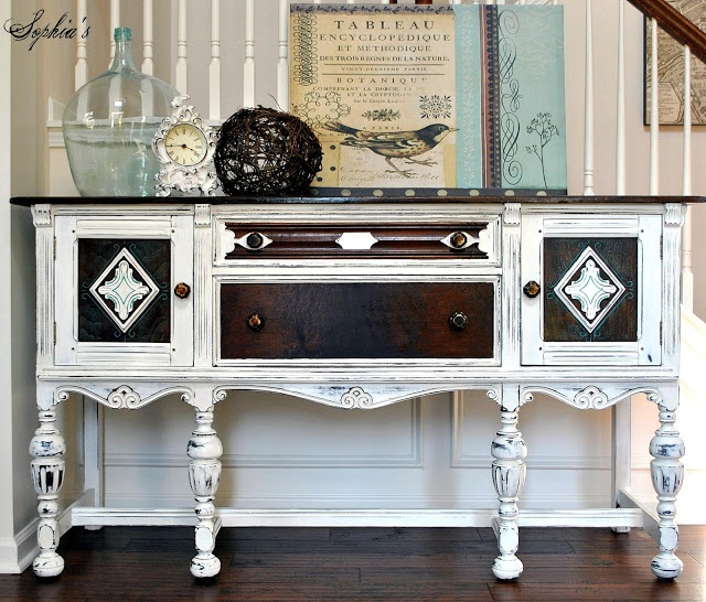Decorating With Distressed Furniture: 131 Best Images About Buffets & Sideboards