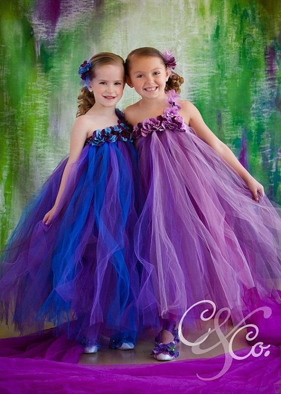 Purple pearl flower girl tutu dress purple tutu dress by Gurliglam, $87.00