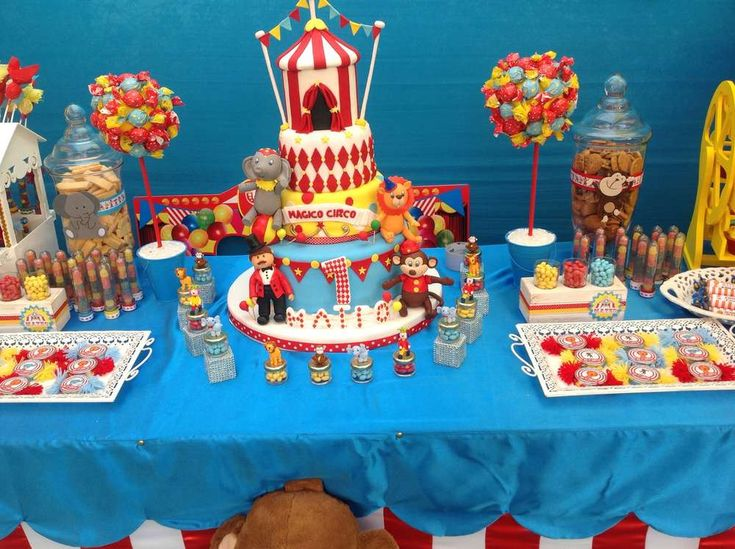Circus birthday party dessert table! See more party ideas at CatchMyParty.com!
