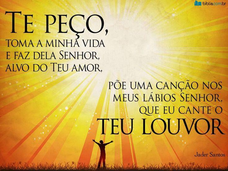 """""""Cantarei ao Senhor toda a minha vida; louvarei ao meu Deus enquanto eu viver."""" Salmos 104:33"""