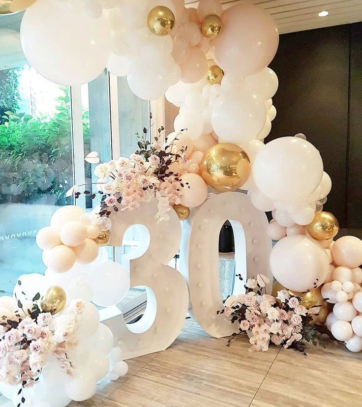 Shannon Kilford On Instagram All The Pretty For This 30th Birthday In The Ivy Penthous 30th Birthday Decorations 30th Birthday Balloons 30th Birthday Parties